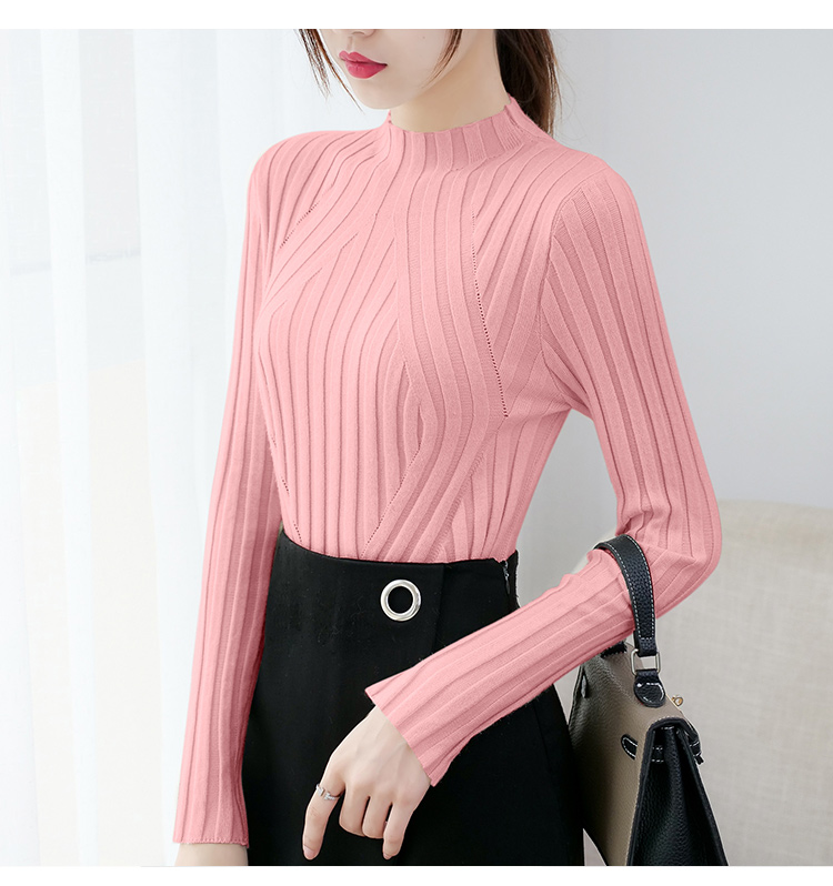 Sweaters fashion 19 women sweaters ladies winter clothes women knit solid black long sleeve tops sueter mujer Pullovers 0364 13
