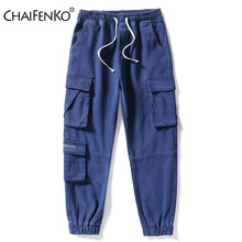 CHAIFENKO Men's Plus Size Cargo Jeans Pants 2021 New Fashion Casual Streetwear Harajuku Harem Pants Multi-Pocket Denim Pants Men
