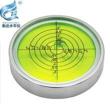 Металлический пузырьковый Высокоточный круглый уровень Универсальный