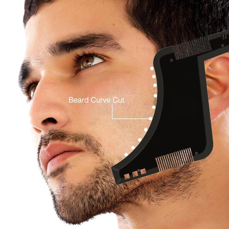 Double-side Beard Shaping Styling Template Beard Comb Men Shaving Tools Comb For Hair Beard Trim Template Combs