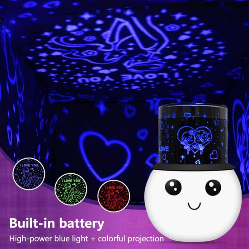 Colorful Romantic Starry Sky Galaxy Projector Stars Light LED Night Light Projection Lamp Gift  For Valentine