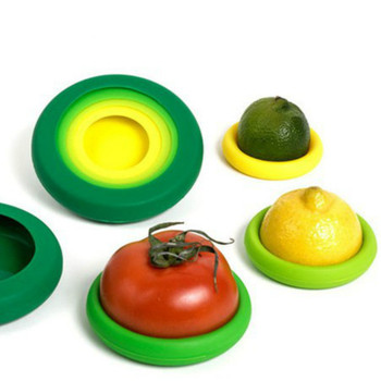 Kitchen Gadget Food Means Vegetable Huggers Fresh Silicone Containers Storage Keeping Less Fruit Waste Casual Reusable Set Cover
