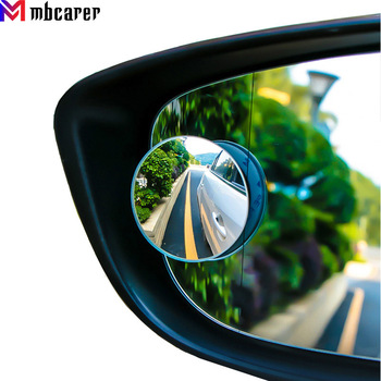 360 Degree Wide Angle Round Convex Mirror Universal Frameless Car Vehicle Side Blind Spot Mirror Wide Rear View Mirror BMW E90 image
