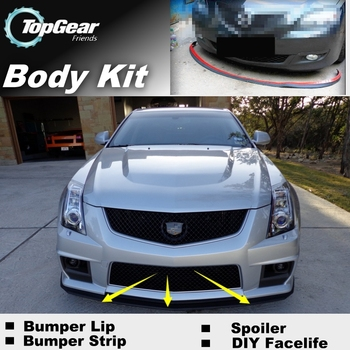 Bumper Lip Deflector Lips For Cadillac CTS CTS-V 2002~2015 Front Spoiler Skirt For TopGear Fans Tuning / Body Kit / Strip image
