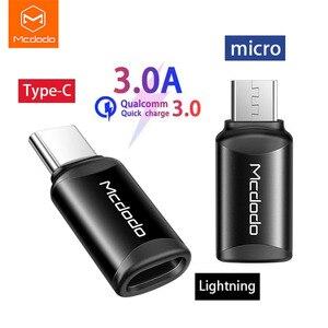Mcdodo для студентов OTG Lightning для Type C/Micro конвертер 3A быстрое зарядное устройство Type C для Lightning/Micro для IPhone Lightning кабели