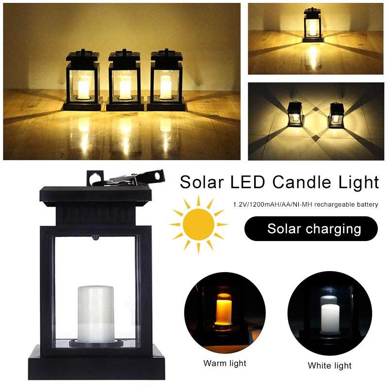 Candles Lamp Solar Candle Light Lantern Lights Solar Lantern Votive Romantic Creative LED Flameless Christmas Decor Best Gift