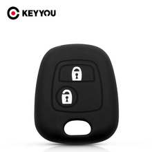 KEYYOU Silicone Key Car Case Protector Cover For Citroen C1 C2 C3 C4 Xsara Picasso For Peugeot 106 107 206 207 For Toyota Aygo