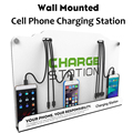VIPATEY Universal Wall Mount Cell Phone Charging Station Multi-Device with 8 Ports For iPhone iPad Samsung Tablets and More