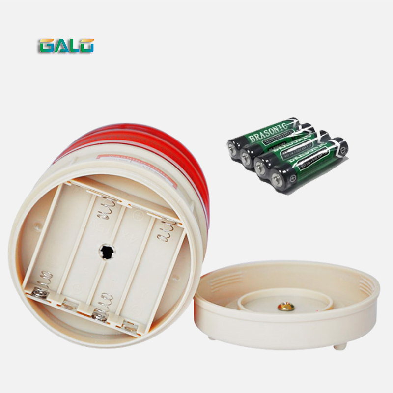GALO Small Sound And Light Alarm Small Decibel LED Warning Light LTD-5088 Dry Battery Magnet Ceiling Strobe Light
