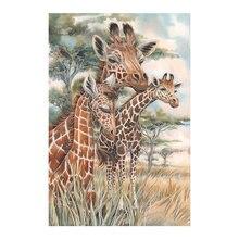 African Grassland Giraffe Diamond Painting animal Round Full Drill 5D Nouveaute DIY Mosaic Embroidery Cross Stitch home decor