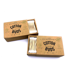 1000pcs/Pack Double Head Cotton Swab Bamboo Cotton Buds Medical Ear Cleaning Wood Sticks Cotton Swabs Beauty Makeup Dropshipping