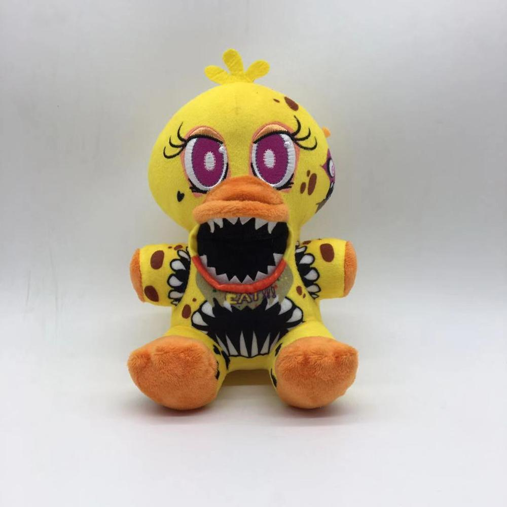 1pcs 18cm Five Nights At Freddy's 4 FNAF Duck Chica Plush Toys Soft Stuffed Animals Toys Doll For Kids Children Xmas Gift
