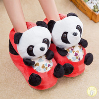 Womens Girls Panda Slippers Home Warm Soft Plush Slipper Flats Cartoon Pull On Mixed Colors Cute Winter 4Colors B9