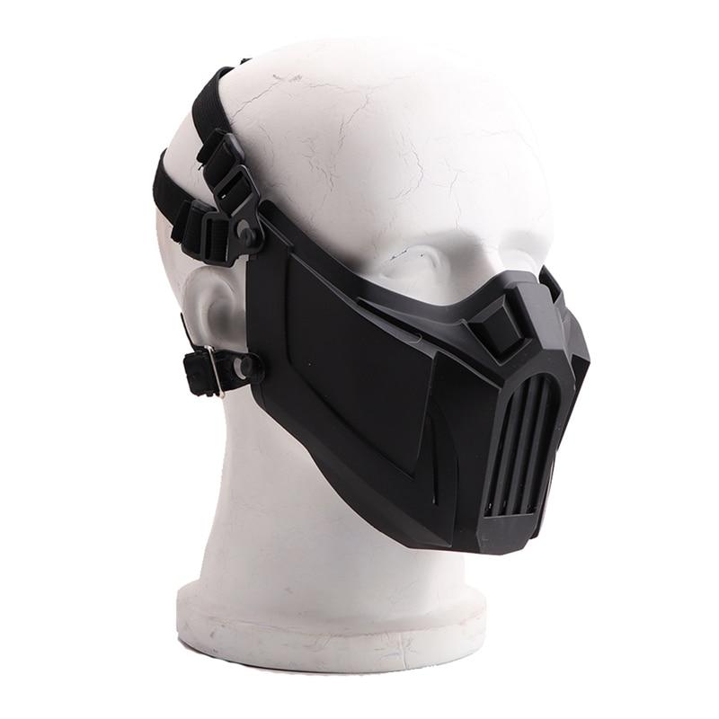 Охотничья тактическая полумаска для лица мягкая Съемная дышащая ударопрочная Защитная защита для полости рта спортивные аксессуары Маска для велоспорта      АлиЭкспресс