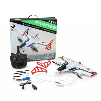 X420 RC Airplane 6CH 3D/6G Brushless Vertical Airplane EPP Foam Glider Takeoff and Landing Stunt  RC Drone 050 Motor RC Airplane