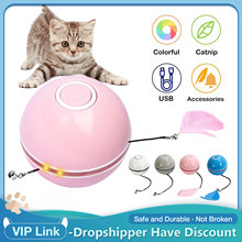Brinquedos interativos do gato da bola de levantamento do yo-yo brinquedos recarregáveis de usb da bola para gatos
