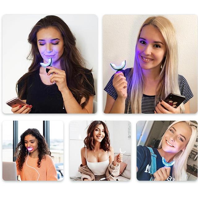 Teeth Whitening High Strength LED Blue Laser 35%CP Peroxide Dental Bleaching System Oral Gel Set Teeth Whitening