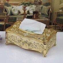 Золото/серебро европейская роскошная акриловая коробка для салфеток Отель Держатель салфеток для ресторанов Бытовая коробка для салфеток WF911350