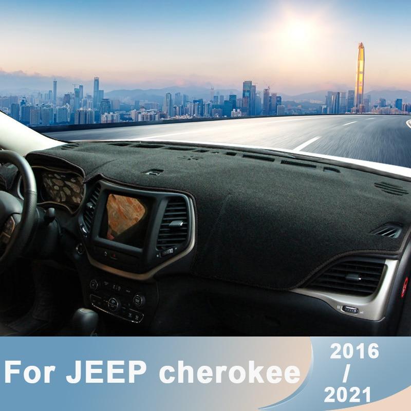 Для Jeep Cherokee 2016 2017 2018 2019-2021 LHD приборной панели автомобиля крышка коврики Избегайте светильник колодки анти-УФ ковры протектор Аксессуары