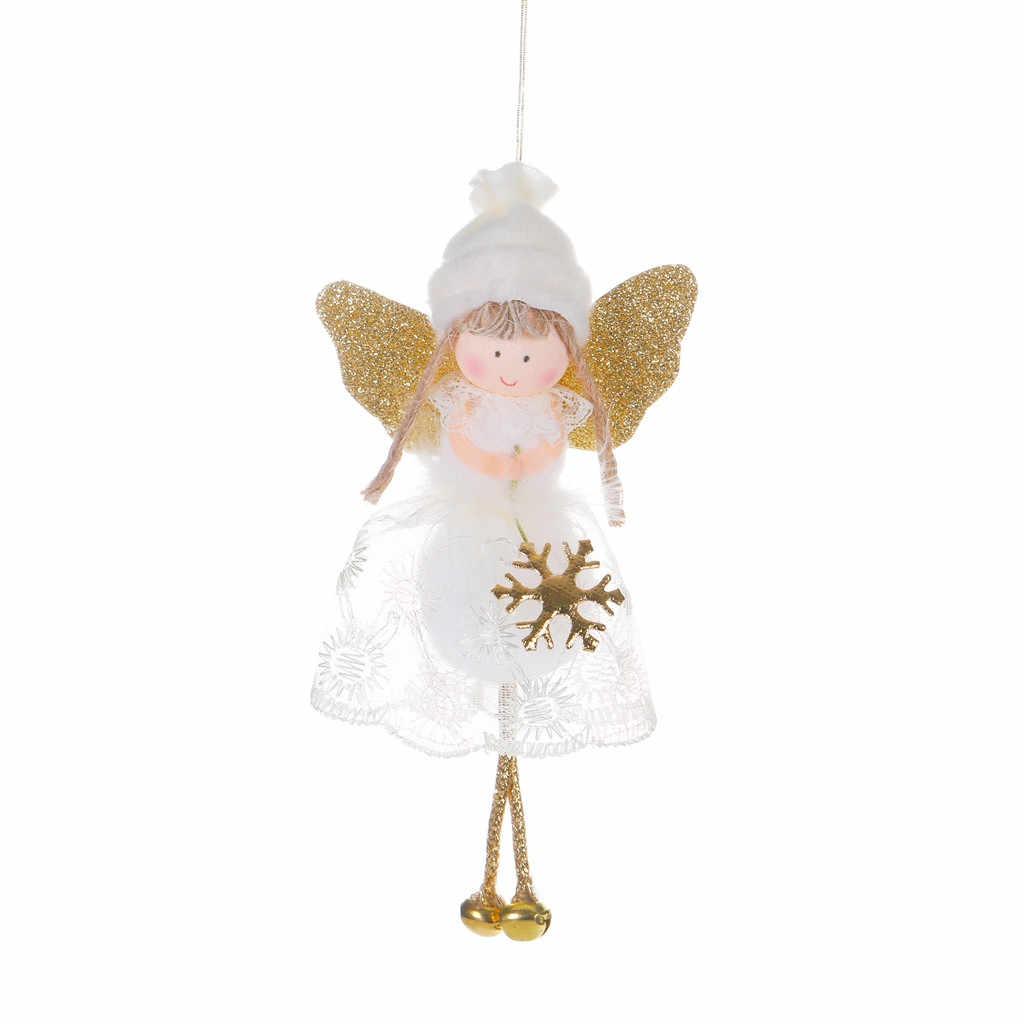 คริสต์มาสตุ๊กตา Merry Christmas Decor บ้านต้นไม้สร้างสรรค์ตกแต่งจี้น่ารัก Angel ลูกไม้ตุ๊กตา Noel Navidad ใหม่ปี