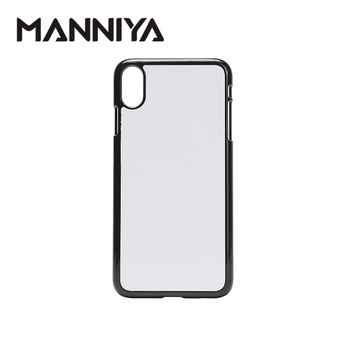 MANNIYA 2D Sublimation Blank PC phone Case for iphone XS Max with Aluminum Inserts and glue Free Shipping! 100pcs/lot