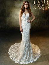 Eslieb 2020 V Neck Wedding Dresses Simple Deep V Back Wedding Dress Vestido De Noiva Praia Custom Made HA133