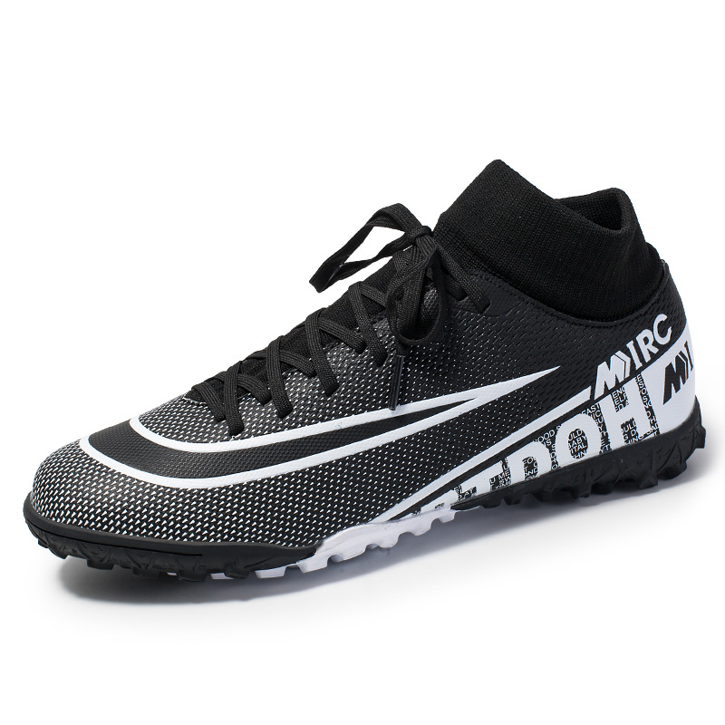 New Arrival High-top Football Shoes Artificial Grass Men's Large Size Training Sneakers