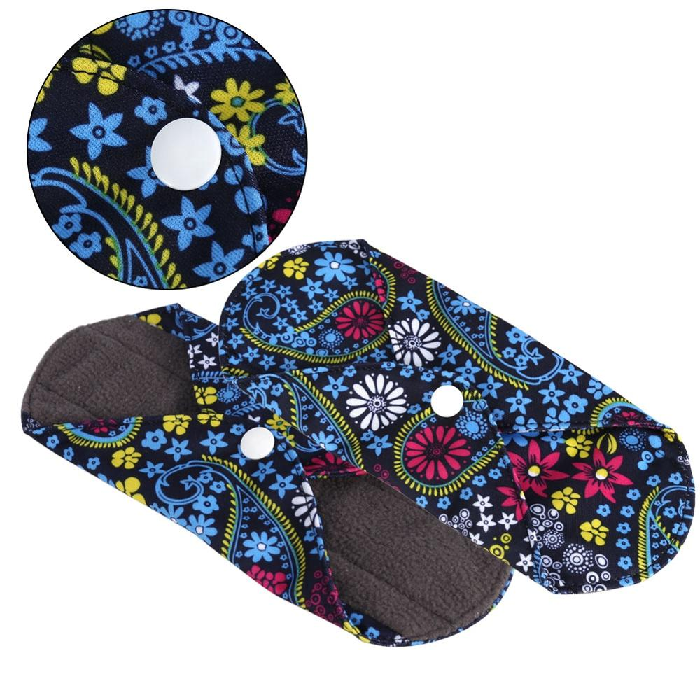 1PC Washable Wet Bag + 6PCS Reusable  Sanitary Menstrual Mama Pad Bamboo Cotton Cloth Pad Menstrual Pads Panty Liner Towel Pads