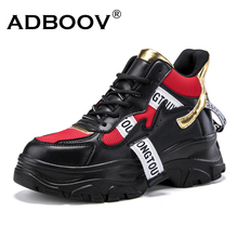 ADBOOV New Fall Winter Fashion Women Shoes PU Leather Platform Sneakers Women Ladies Trainers Casual Shoes
