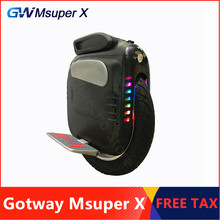"Investment Original Gotway Msuper X Self Balancing Electric Scooter 19"" Tire One Wheel Skateboard 2000W Motor 1600WH 160KM Range Hoverboard discount"