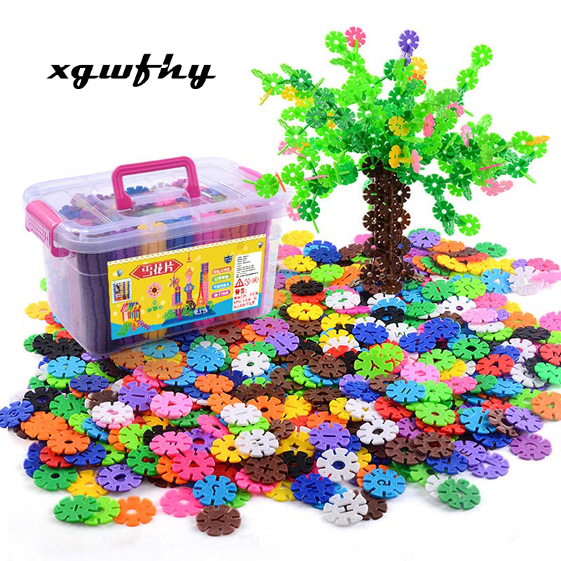 50pcs/bag Snow Snowflake Building Blocks Toy Baby Children Educational Toy DIY Assembling Bricks Kids Classic Toys JM102