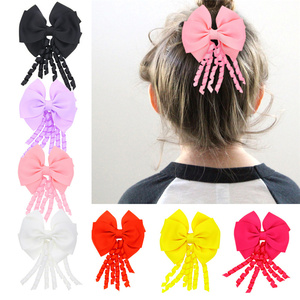Hair Accessories For Girls Hairclips Lovely Sweet Baby Girl Bowknot Hairpin Headdress Fashion Tassel Solid Delicate Clips