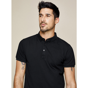 Image 4 - KUEGOU 2020 Homens Camisa Pólo de Moda de Algodão Branco de Verão de Manga Curta Slim Fit Marca Poloshirt Para Homens Além de Roupas Tamanho 1524