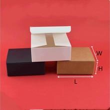 20pcs Kraft paper Gift Box White Handmade Soap Packing Jewelry/Cake/Candy Storage Paper Packaging Black