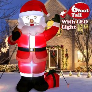 Image 3 - 1.8M LED nadmuchiwany św. Mikołaj bałwanek mikołaj z dmuchawą ogród układ na zewnątrz dekoracje świąteczne rysunek klasyczne zabawki dla dzieci