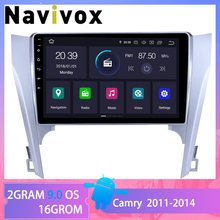 Navivox Android 9.0  car NO dvd gps multimedia player For Toyota Camry 50 2012 car dvd navigation radio video audio player car hangxian android 7 0 car dvd for haval hover great wall h5 h3 2009 2012 car radio gps naviagtion car multimedia dvd player