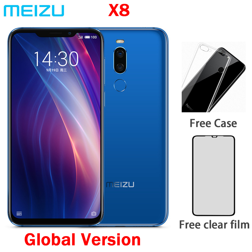 Global Vesion Meizu X8 4G Ram 64G Rom 4G LTE Cell Phone Snapdragon 710 Octa Core 6.2inch 12.0MP And 5.0mp Dual Rear Camera GPS