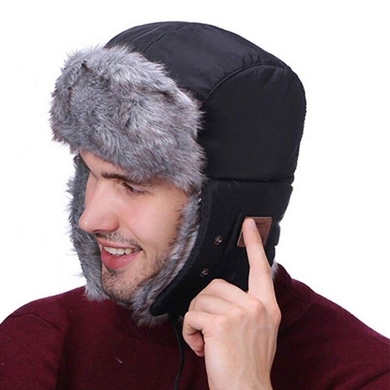 Bluetooth 5.0 Earphone Winter Warm Cap Wireless Headphones Music Speakers Built-in Microphone Universal Winter Birthday Gifts