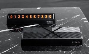 Image 5 - الأصلي شاومي mijia Titx الوجه نوع سيارة درجة الحرارة وقوف السيارات رقم الهاتف بطاقة لوحة صغيرة سيارة الديكور ل شاومي Mi المنزل