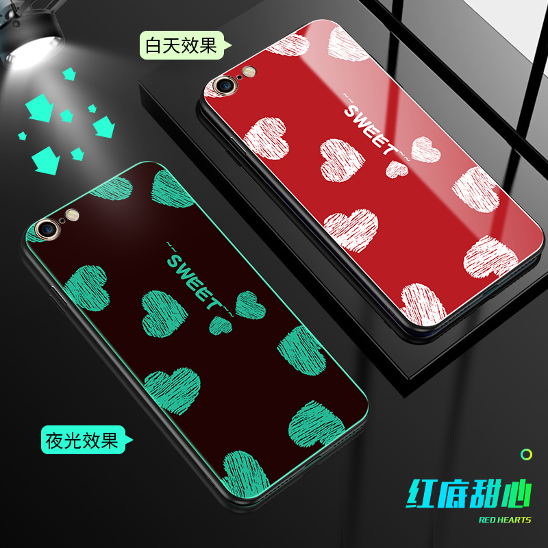 H4344ffa0d1a64219b64263e009f146c1q Luminous Tempered Glass Case For iPhone 5 5S SE 6 6S 7 8 Plus Case Back Cover For iPhone X XR XS 11 Pro Max Case Cover Cell Bag