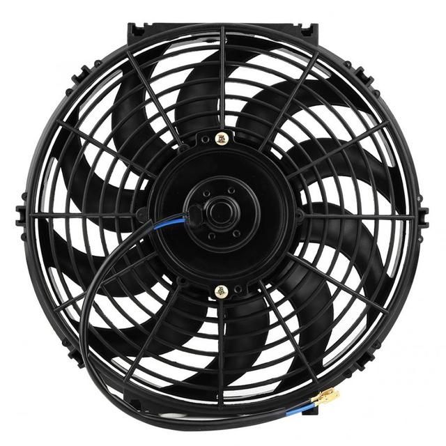 12 inch Universal Car Slim Push Pull Electric Engine Cooling Fan 12V with Mounting Kit Automobiles motor ventilador