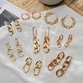 Mode Punk Kette Ohrringe 2021 Neue Neigen Ohrringe Für Frauen Einfache Design Ohrringe Gold Kette Metall Geometrische Kshmir Schmuck