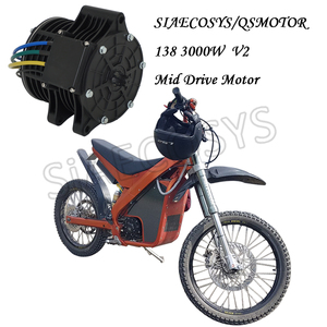 Image 5 - QSMOTOR 138 70H V2 72V 100KPH 6KW Continous 10KW Peak Chain Mid Drive Motor Powertrain Kits for Electric Dirt Bike