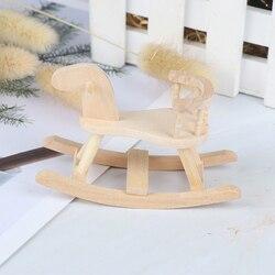 Кукольный домик, миниатюрное деревянное кресло-качалка, детская комната, мебель 1:12, кукольный домик, аксессуары, игрушки для детей