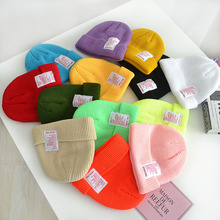 Baby Knitted Beanie Hat Baby Boys Girls Candy Color Hat Children Autumn Winter Warm Hat Keep Warm Soft Solid Caps Muts For 2-8Y spring autumn winter baby beanie hat new born baby photography props children boys girls knitted i love papa mama baby caps h774
