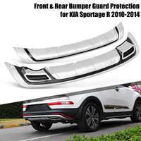 2 sztuk/zestaw zderzak przedni i tylny zderzak Protector pokrywa ochronna straż ABS dla KIA Sportage R 2010 2011 2012 2013 2014