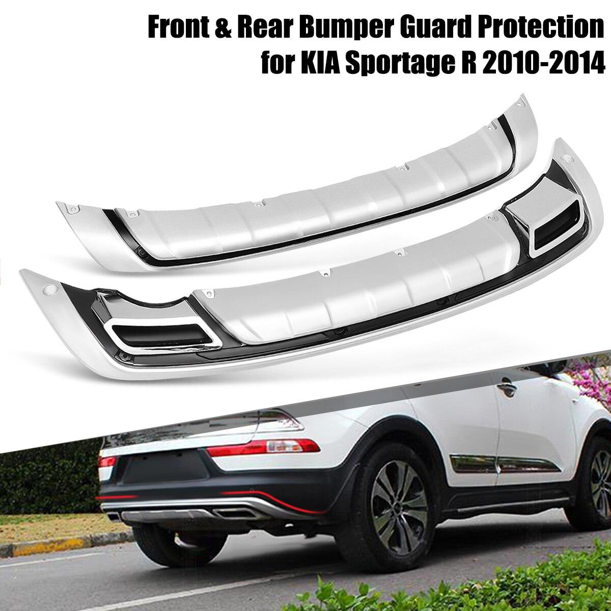 2 unids/set parachoques delantero y trasero del coche Protector de la cubierta de protección ABS para KIA Sportage R 2010 2011 2012 2013 2014