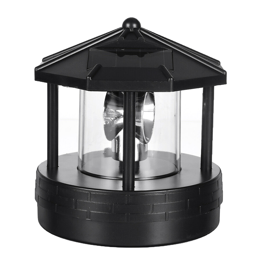 Solar LED Rotating Lighthouse Light Garden Yard Lawn Lamp Lighting Outdoor Home Decor _WK