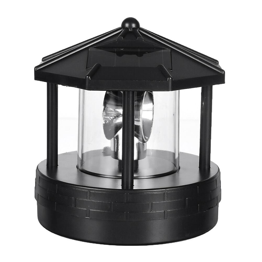 Solar LED Rotating Lighthouse Light Garden Yard Lawn Lamp Lighting Outdoor Home Decor _WK