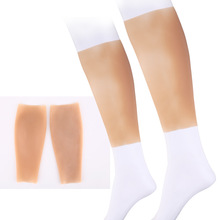 100% New Calf orthosis Soft silicone leg cover Calf shaper for scar skin blemish coverage